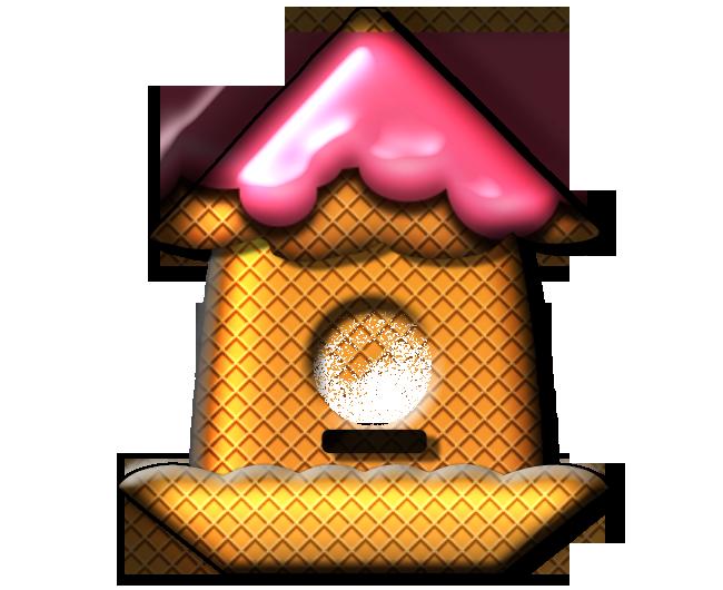 Petites Maisons décos crème glacé