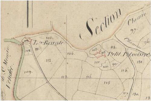 Le pont de la Branle en 1827....