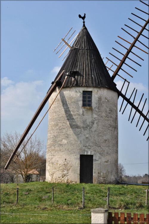 Photo du moulin à vent de Vensac en Médoc
