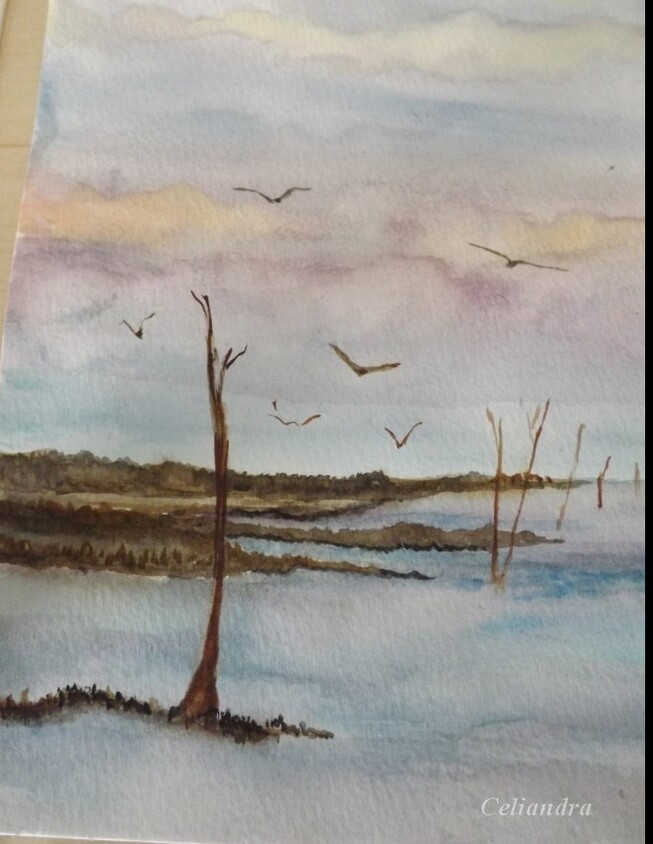Peinture: Essai  Aquarelle N1..