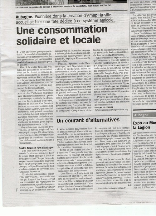 Article la marseillaise 28 septembre