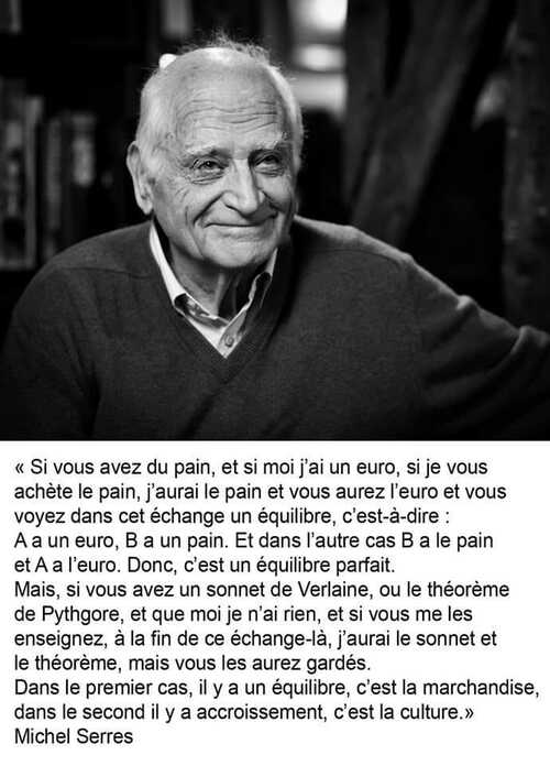 Michel Serres citation 'culture'
