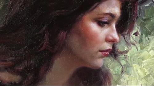 Dessin et peinture - vidéo 1937 : Un portrait plein de romantisme et de douceur, à voir et à revoir pour sa conception - peinture à l'huile.