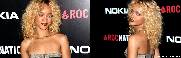 RIHANNA À LA « PRÉ-GRAMMY PARTY » ORGANISÉE PAR ROC NATION