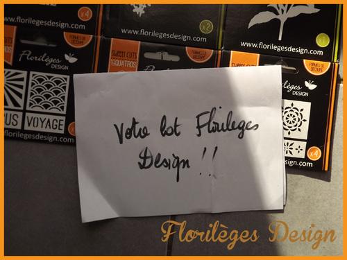 Le blog candy de Florilèges et son cadeau