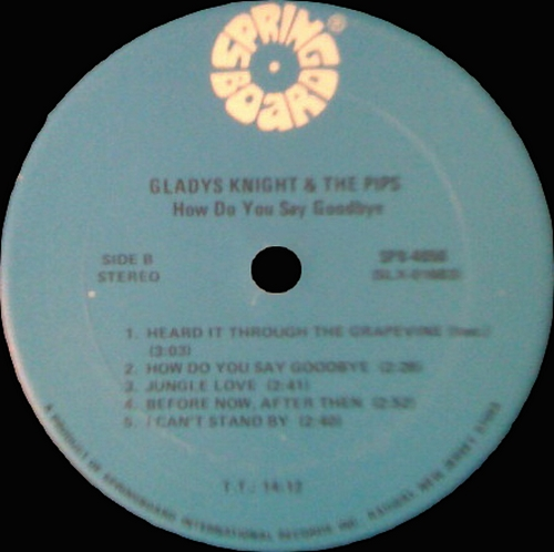 "Gladys Knight & The Pips : Album "" How Do You Say Goodbye "" Springboard Records SPB 4050 [ US ]"