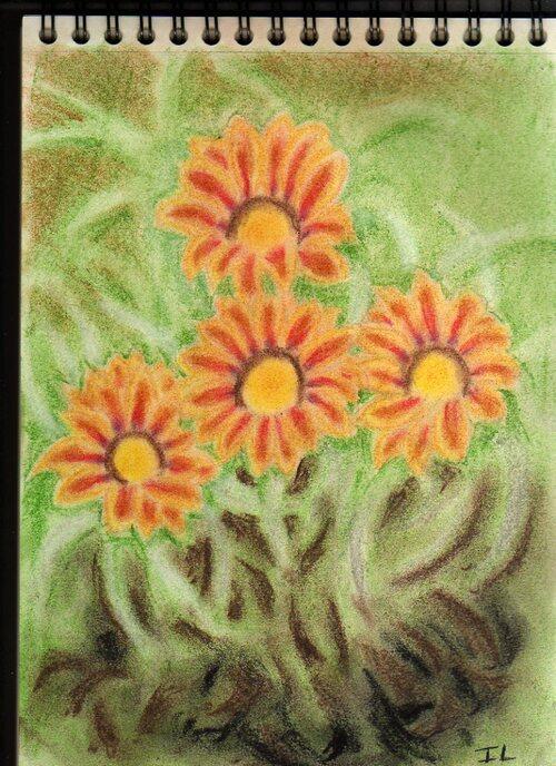 Fleurs ( Pastel tendre )