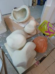 sculpture, organique, prises d'escalade, érosion, art
