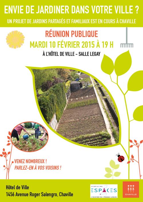 Réunion Nouveaux jardins partagés avec l'association Espaces