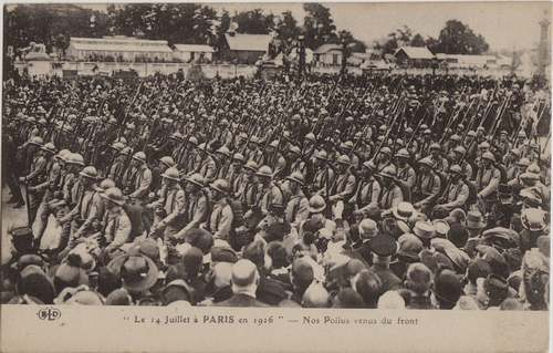 Le grand almanach de la France : La journée de Paris du 14 juillet 1916