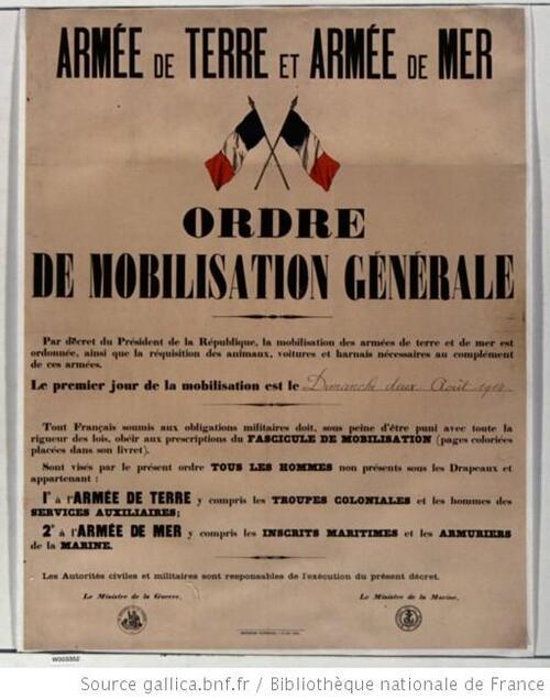 1er août 1914 - France - 16h00