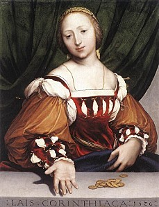Hans Holbein the Younger - Lais of Corinth