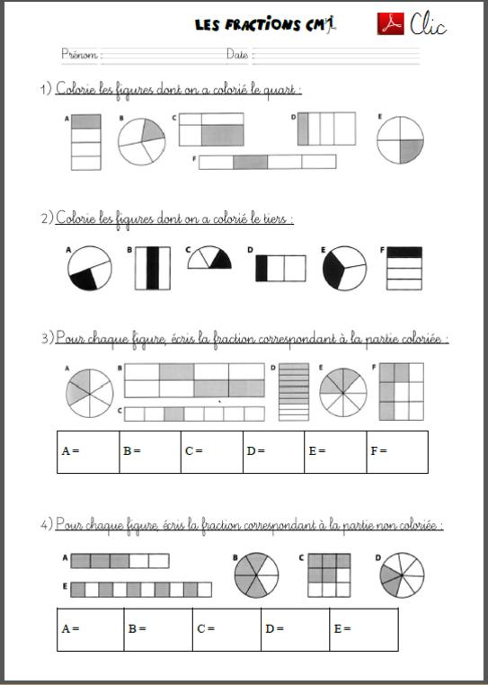 Découvrir les fractions avec les CM1