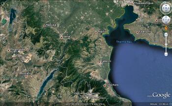 Le lac Polyphytos un peu avant l'orage * Η λίμνη του Πολυφύτου