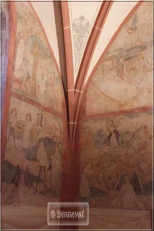 Alsace Haut-Rhin Route des Vins Hunawihr fresque légende Saint Nicolas
