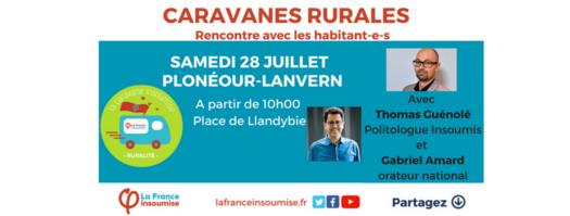 Caravane rurale d'été de La France Insoumise (28 juillet à Plonéour-Lanvern)