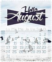 ► Calendriers d'août 2015