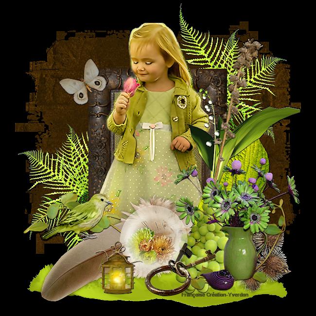 Enfants  au printemps