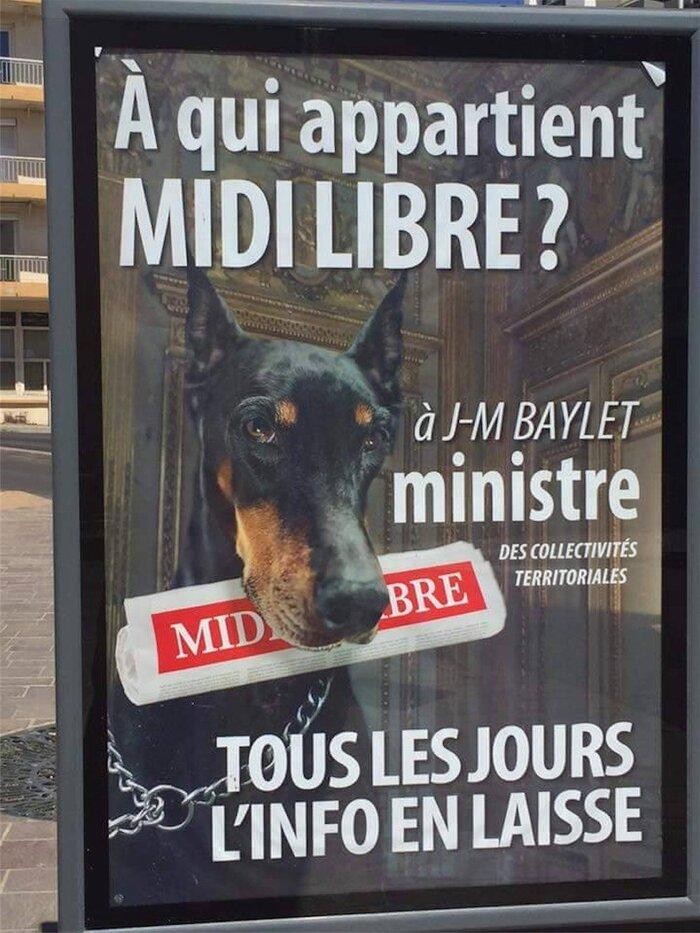 Béziers : Robert Ménard affiche la mise à mort de Midi Libre