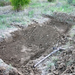 end of digging -