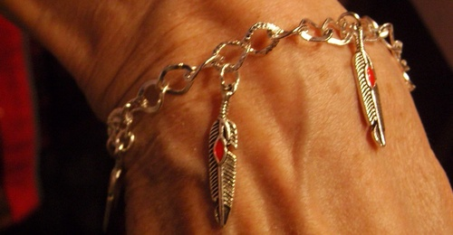 Bracelet country plumes