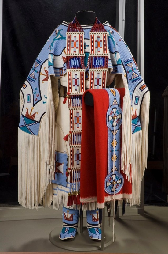 Juanita Growing Thunder Fogarty is an award-winning Assiniboine-Sioux bead worker and porcupine quil