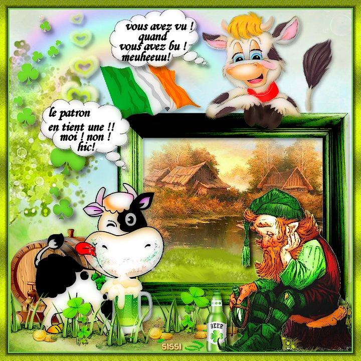* St Patrick chez les Meuh * Atelier Babouchka . *
