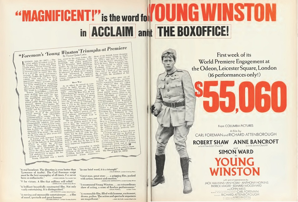 YOUNG WINSTON BOX OFFICE 1972