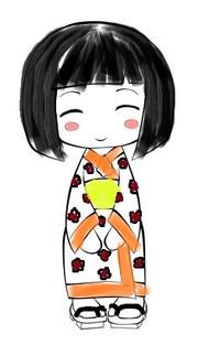 Etude des motifs textiles chinois avec le kimono