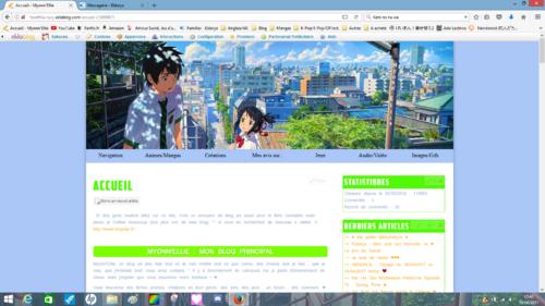Un nouveau thème pour le Blog ! ♥
