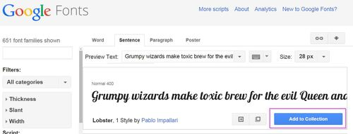 Utiliser une police Google sur Eklablog