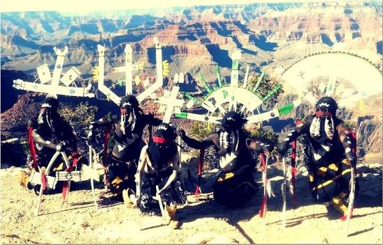 Powwow à Ornans, cérémonie Gan Apaches, les 28, 29 et 30 Juin