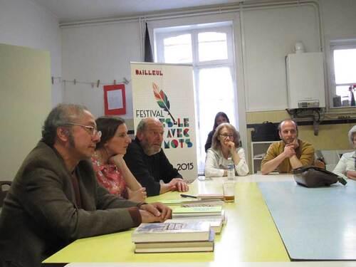 La rencontre avec Amandine Dhée et Mario Campana...