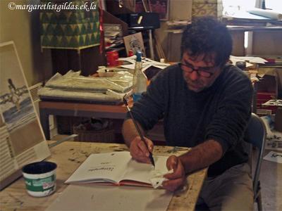 Visite chez l'illustrateur