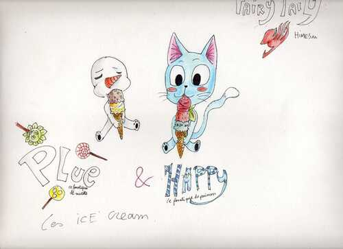 Plue et Happy les ices cream