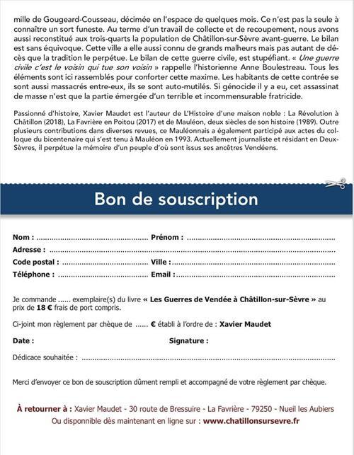 Châtillon-sur-Sèvre, le deuxième opus de Xavier Maudet....