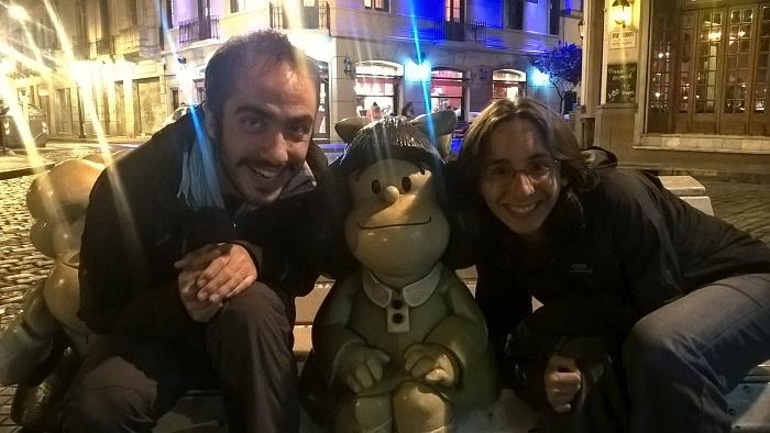 avec Mafalda à San telmo