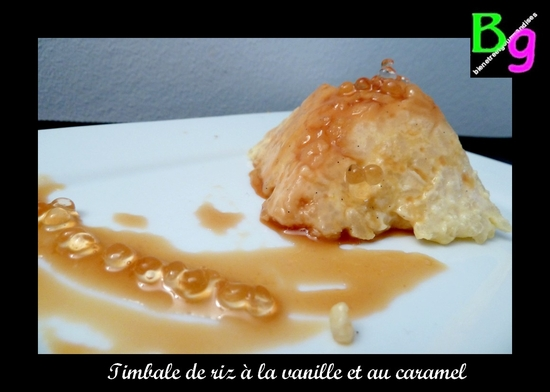 timbale riz vanille caramel