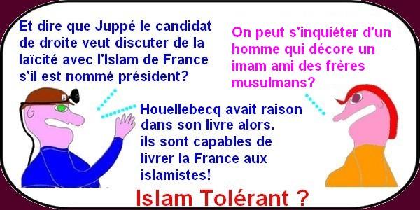 il vaut mieux être bousculé par Fillon qu'aller en douceur vers l'islamisation avec Juppé!