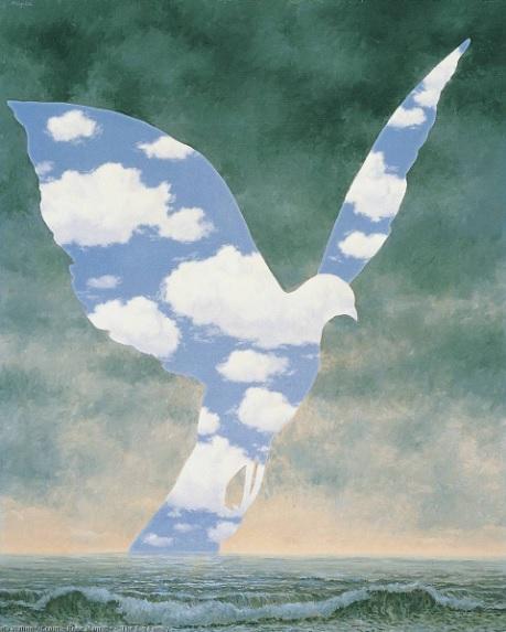 Oiseau du ciel - Magritte - Pinceau [défi du lundi]