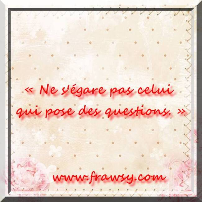 Citations et Proverbes 3:  Un proverbe