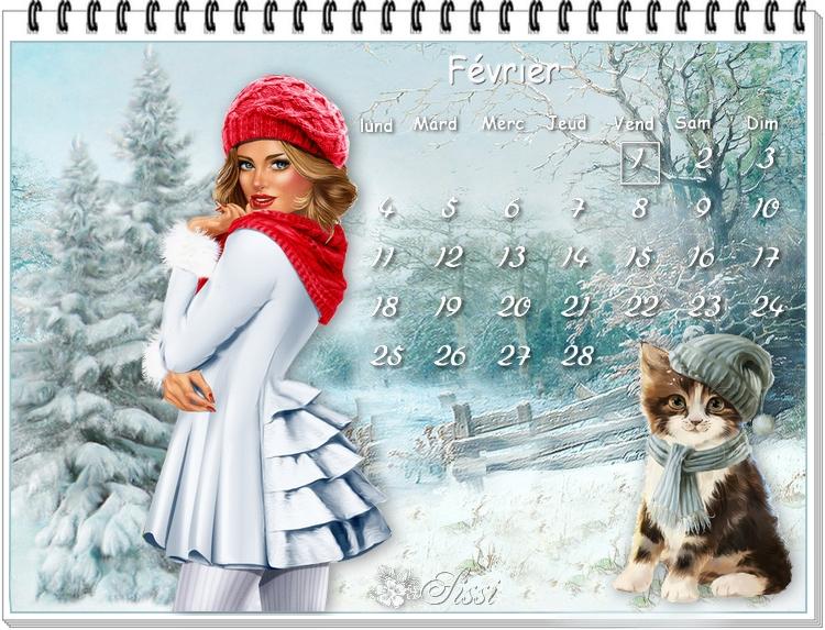 * Mes calendriers de Février *