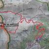 Carte IGN itinéraire pic de Gabedaille par le versant Est