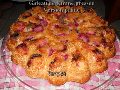 Gâteau, prune