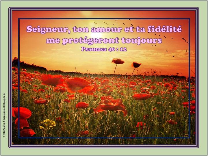 Seigneur, ton amour et ta fidélité me protégeront toujours - Psaumes 40 : 12