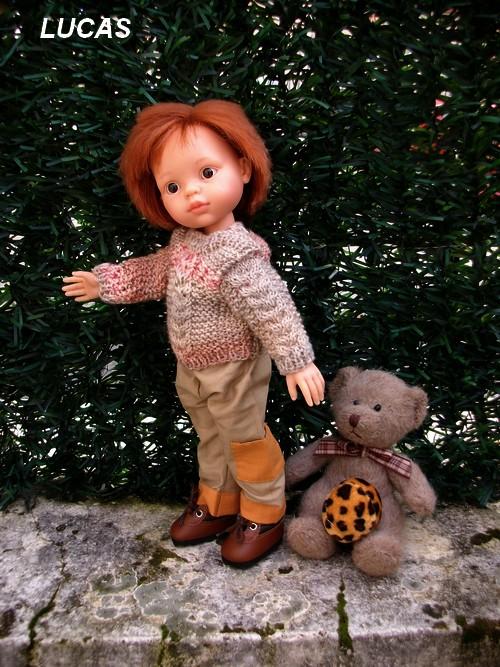 Lucas en couture et tricot !