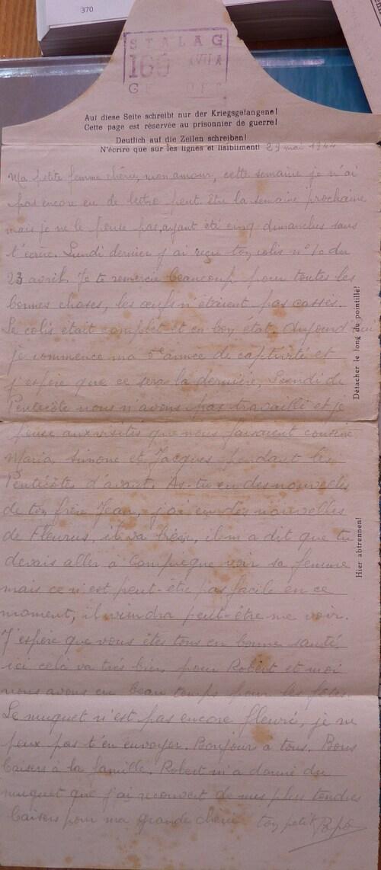 Du muguet envoyé par papa à maman en mai 44.