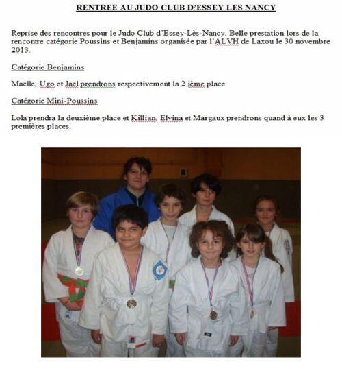 Rencontres Judo Jeunes Laxou Poussins-Benjamins