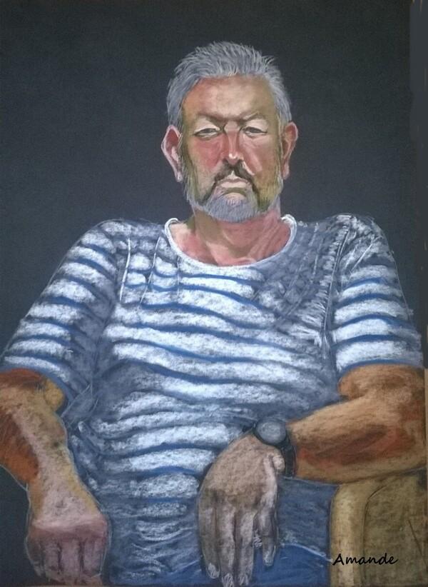 Vendredi - Portrait de Pierre aux pastels secs (4)