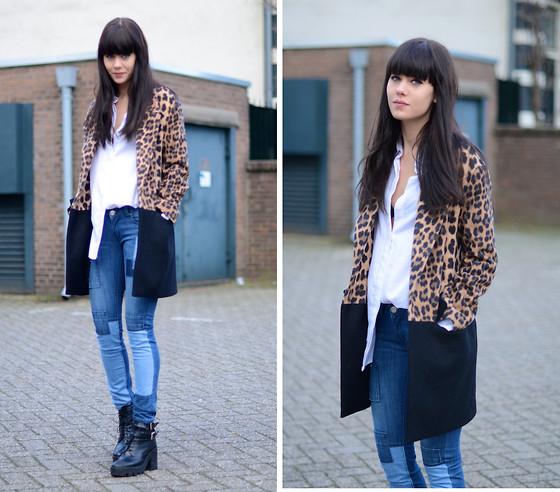 Lucy De B. - Leopard Print Coat - Patchwork